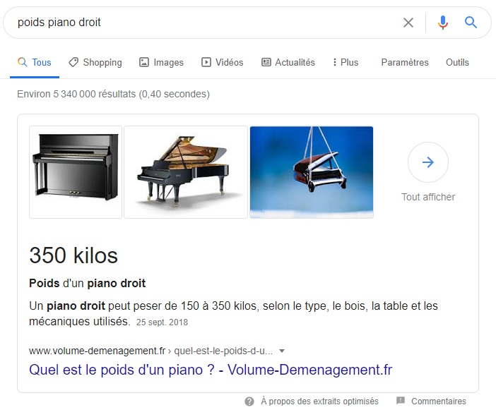 Featured Snippet Poids piano droit-Webapic