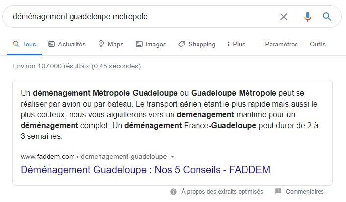 Featured Snippet_Demenagement guadeloupe metropole-Webapic